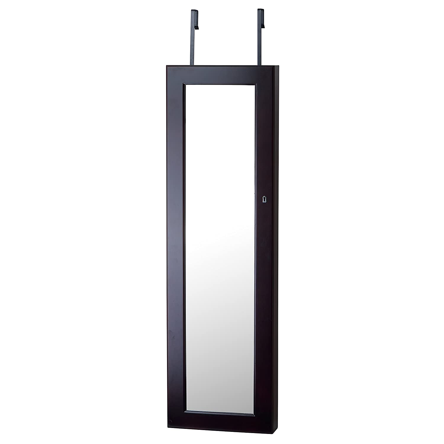 door homegear mounted with black stand storage organizer wall armoire o jewelry mirrored cabinet