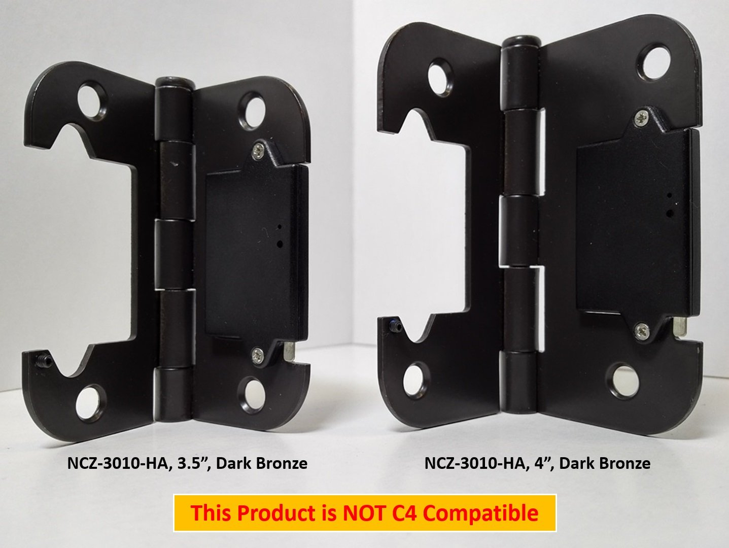 NYCE NCZ-3010-4-HA Door Hinge Sensor - 4'', Dark Bronze Finish