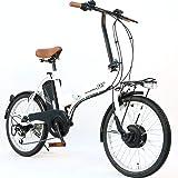 AIJYU CYCLE 折りたたみ電動アシスト自転車 パスピエ20R シマノ6段ギア 20インチ 5Ahリチウムイオンバッテリー 型式認定車両(TSマーク) (ホワイト)