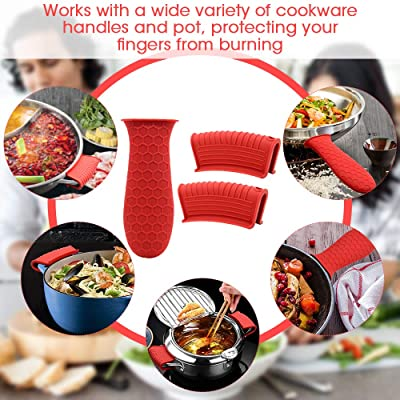 Resistant Pot Protecting Silicone Handle Grip Cover Skillet Sleeve Pan Holder