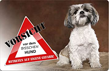 Metall WARNSCHILD Schild Hundeschild Sign SHIH TZU ++ STZ 07 T3