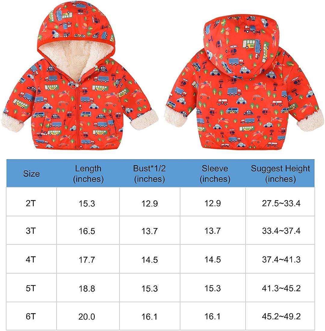 ACESTAR Boys Jacket Windbreaker,Zipper Hooded with Cool Car Print Light Weight Windbreaker Casual Coat Outerwear 3T-6T