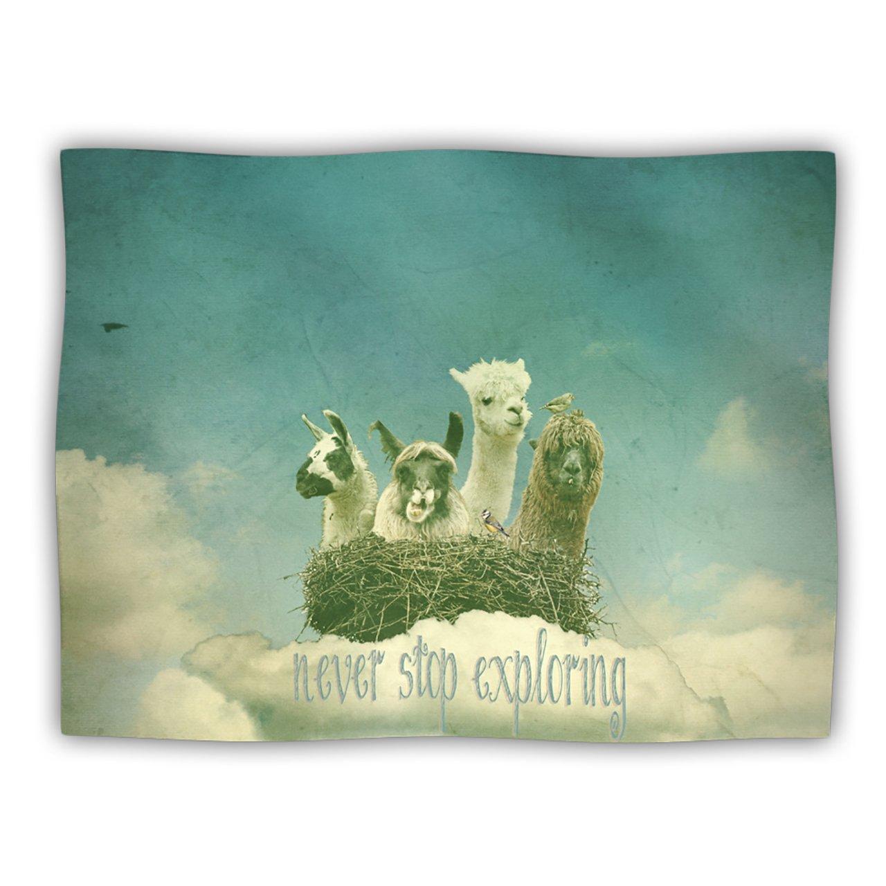 Kess InHouse Monika Strigel 'Never Stop Exploring' Dog Blanket, 40 by 30-Inch