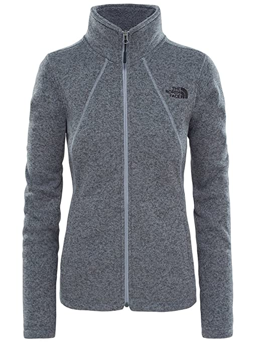 North Face W Crescent Full Zip - Chaqueta, Mujer, Gris - (TNF Medium