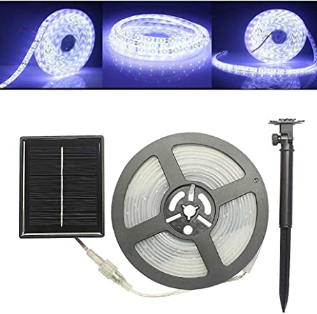 5M LED Solar Powered Rope Light Strip Xmas Garden Party Outdoor Waterproof Decor