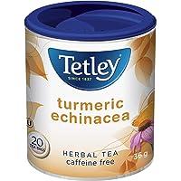 Tetley Full-Flavoured Turmeric Echinacea Caffeine Free Herbal Tea with Ginger Root, Lime Flowers and Zesty Lemon Peel…