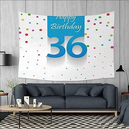 Anniutwo Manta de Playa de 35º cumpleaños, diseño artístico ...