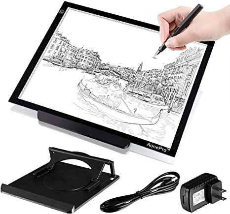 A3 LED Light Pad Stand Light-Up Tracing Pad for Artists Drawing Sketching Animation and Diamond Painting USB Cable HOHOTIME Dimmable LED Tracing Light Box with Carry Bag