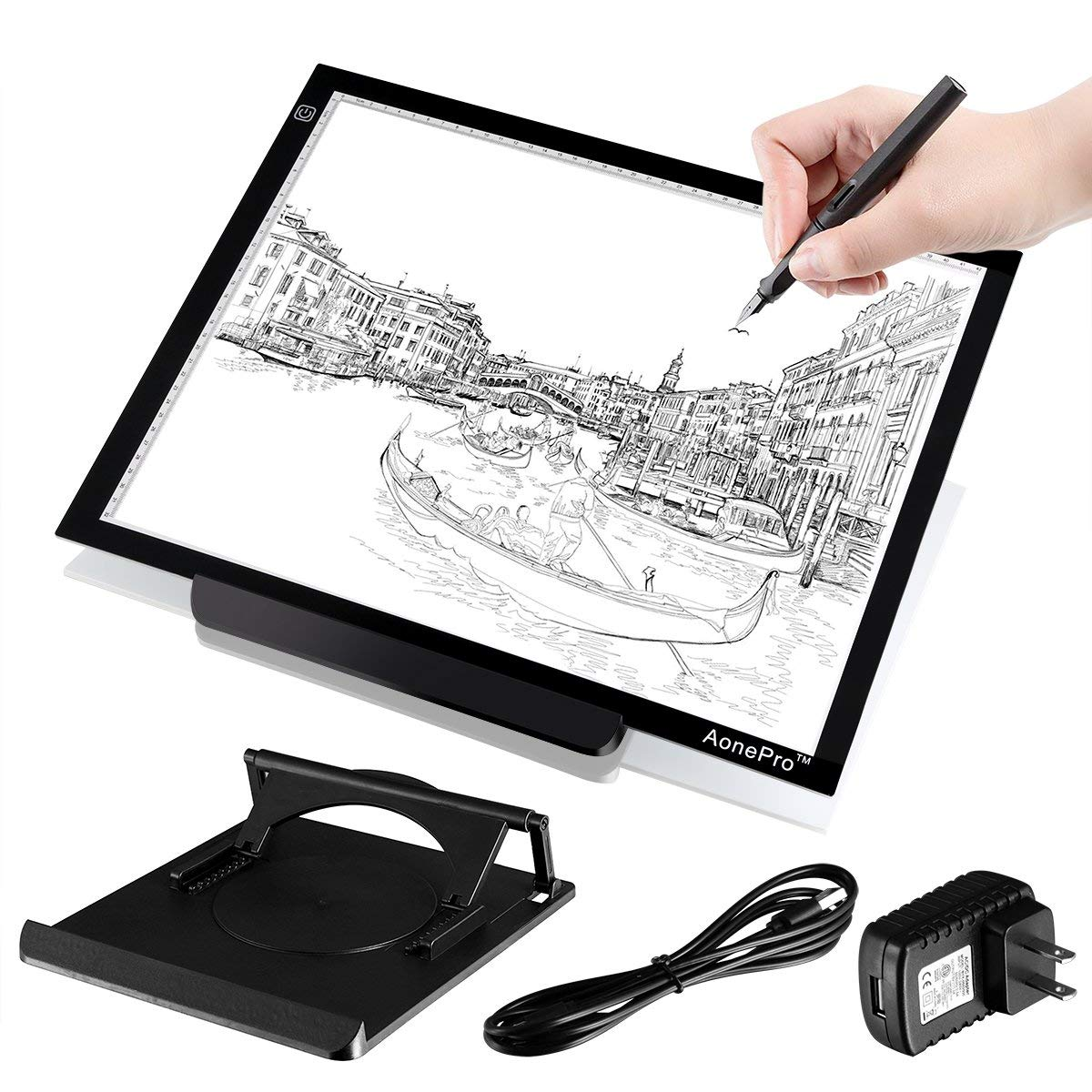 A3 LED Tracing Light Box USB Powered Ultra-Thin 19 inch Drawing Light Pad for Tattoo Drawing, Stencil, Sketching by Aonepro