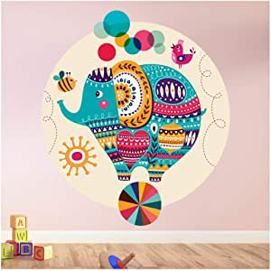 azutura Performing Elephant Wall Sticker Circus Animal Wall Decal Girls Bedroom Decor Available in 8 Sizes XX-Large Digital