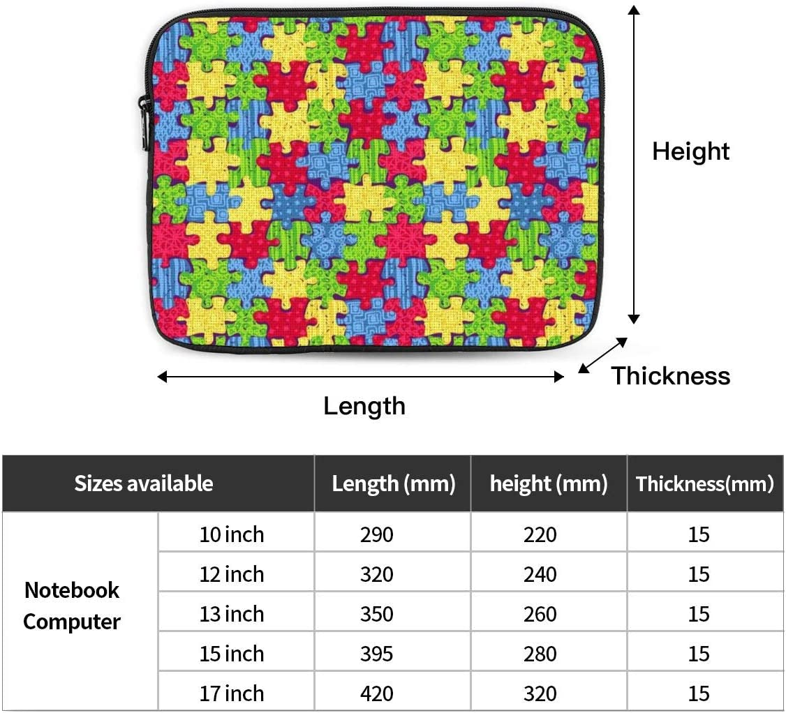 Tablet Travel Cover,Puzzles Laptop Sleeve Bag Compatible with 10-17 Inch Netbook//Laptop 10 Inch