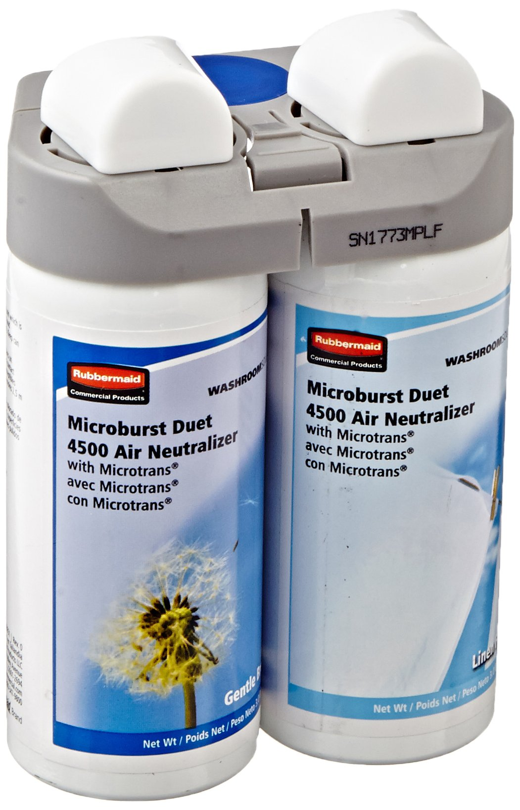 Rubbermaid Commercial 3485949 Microburst Duet Refills, Gentle Breeze/Linen Fresh, 3oz (Case of 4) by Rubbermaid Commercial Products (Image #2)