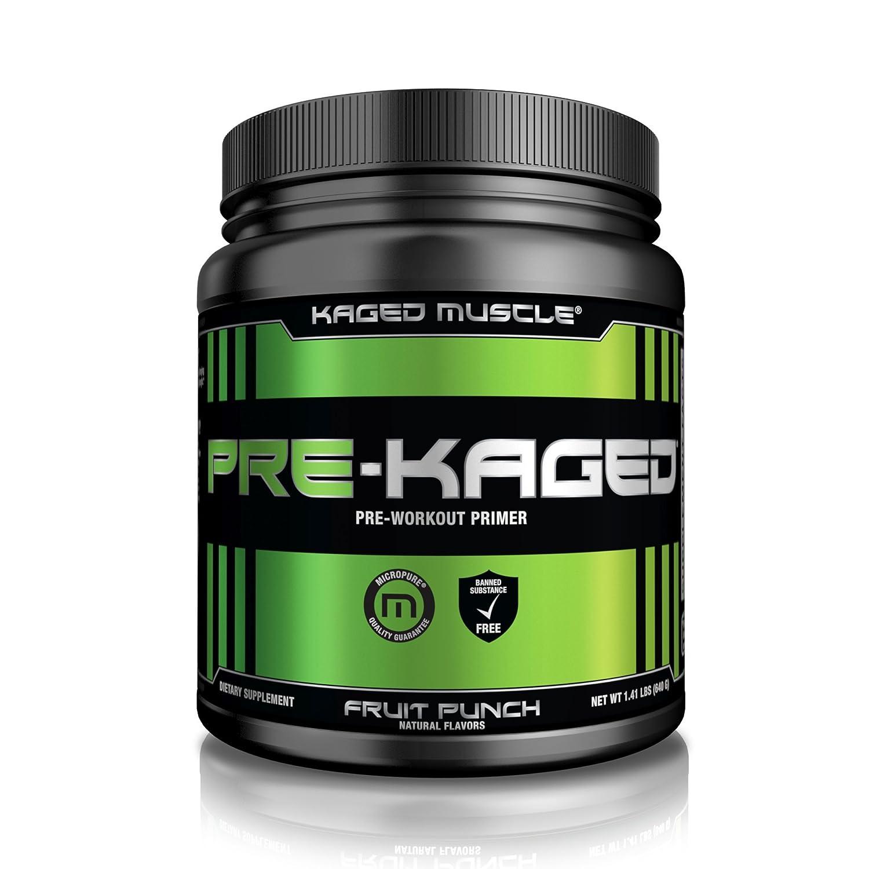 PRE-KAGED Pre Workout Powder – Fruit Punch Flavor – 638 Grams – L-Citrulline + Creatine HCL – MAXIMIZE Energy + Focus + Extreme Workout Intensity + Supercharge Adrenaline*