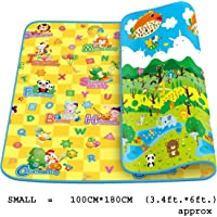 Kidbee Baby's Double Sided Anti Skid Waterproof Crawl Mat Carpet (Color and Design May Vary,) (200x180 cm (6.7x6 ft.))