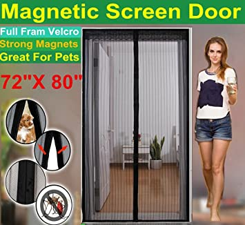 Amazon graze choice 72w x 80h magnetic screen door for graze choice 72quotw x 80quoth magnetic screen door planetlyrics Choice Image