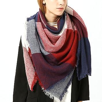 Vandot Châle Grand Etole Surdimensionne Tartan Echarpe Plaid Foulard Cozy  Blanket pour Femmes Lady (140 864b563516a