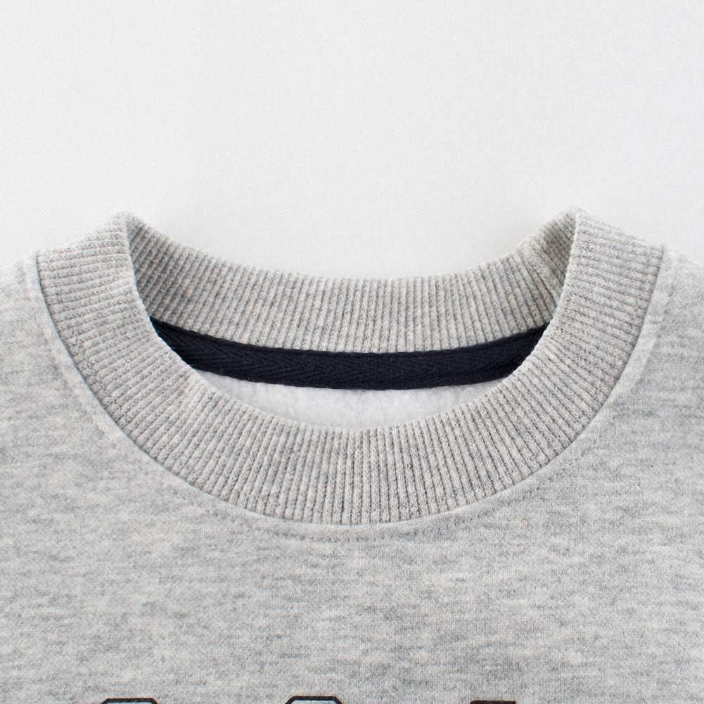 Snyemio Ni/ño Sudadera Casual Oto/ño Pul/óver Manga Larga Camiseta Tops Blusas 2-7 A/ños Invierno Pul/óver Beb/és Deportiva