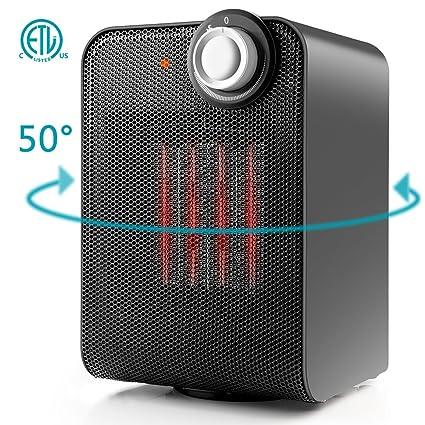 Amazon.com: Ceramic Space Heater, Indoor Electric Mini Desk Personal ...