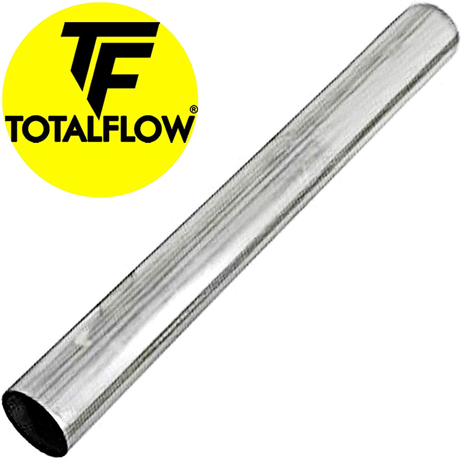 """TOTALFLOW TF-P223 409 Stainless Steel Straight Tube 3"""" O.D. 20"""" Length Exhaust Pipe (Outer Diameter)"""