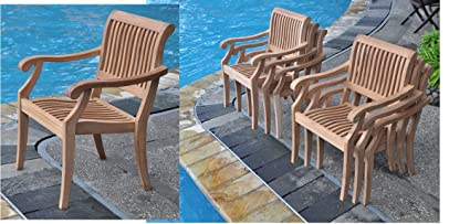 Add On Item: Arbor Stacking Dining Captain Arm Chair   Outdoor Patio Grade