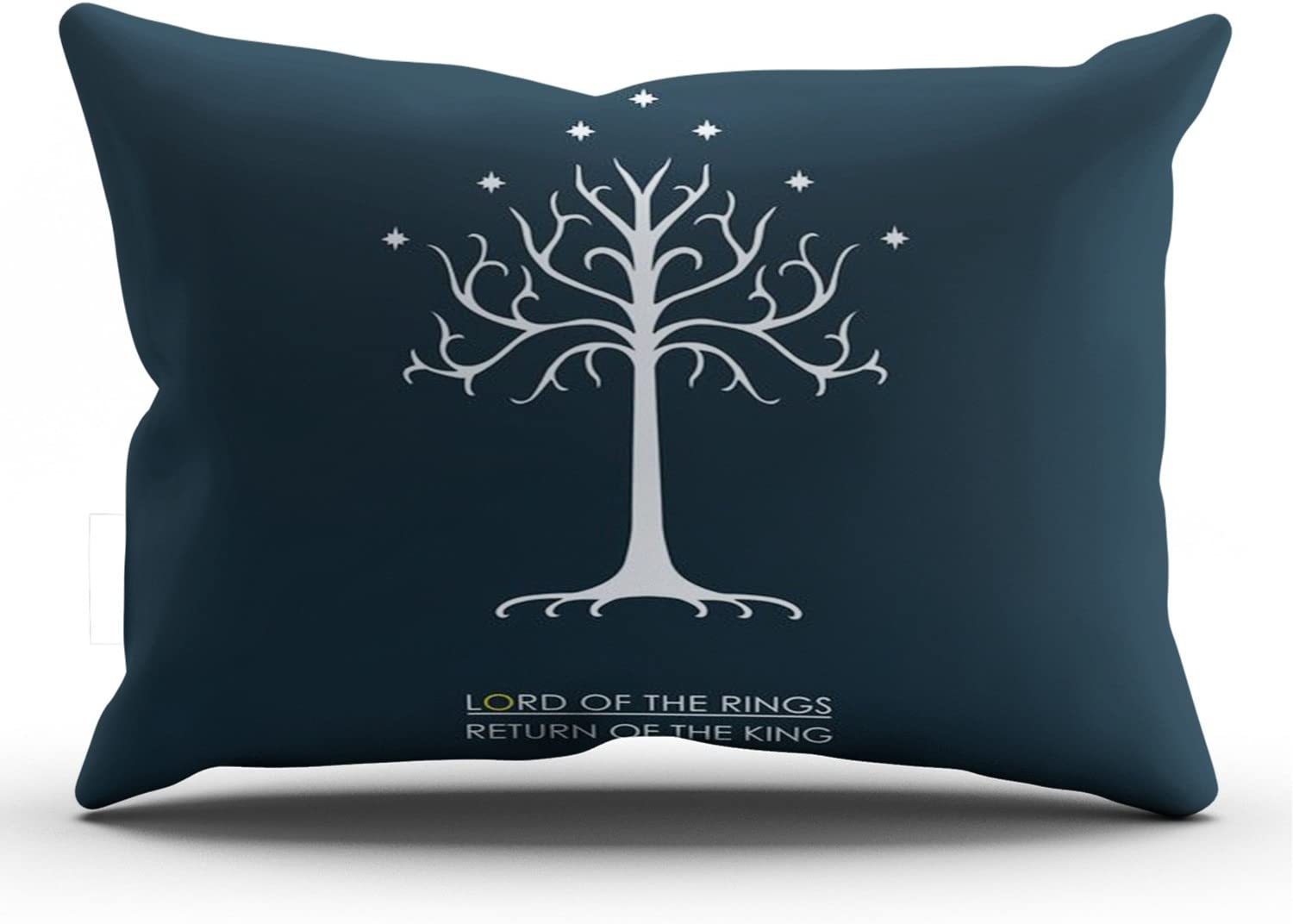 ZeDae Lord of the Rings Personalized Pillowcases Unique Navy Decorative Pillow Case Cover 20x36 Inches Pillowcase One Sided