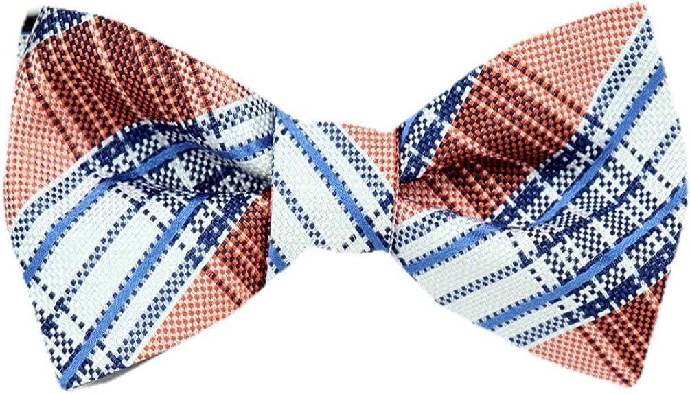 Many Designs Available Tie yourself Bow Ties Silk Mens Orange Self tie Bowtie