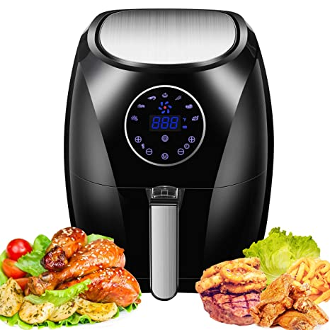 Amazon.com: Air Fryer, frigorífico eléctrico de 1400 vatios ...