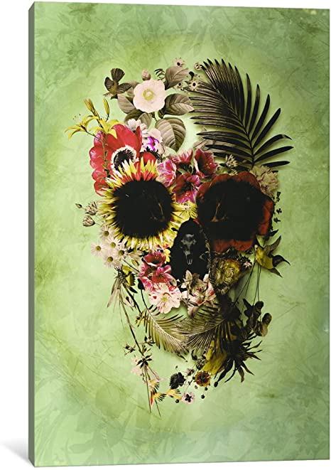 Amazon Com Icanvasart 1 Piece Garden Skull Light Canvas Print By Ali Gulec 1 5 By 18 By 26 Inch Posters Prints
