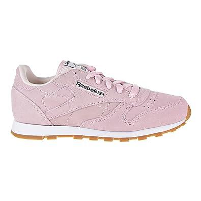 77e3e7d6f3a2 Reebok Classic Leather Pastels Shoe - Junior s Running 4.5 Porcelain Pink Classic  White Coal
