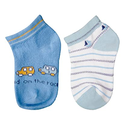 Carlomagno - Pack 2 pares calcetines bebe B302 - Talla 1 - Color Azul