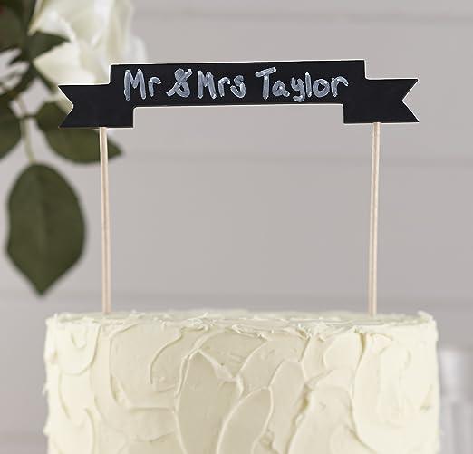 Ginger Ray Pizarra de madera Cake Bunting Topper para bodas Parte ...