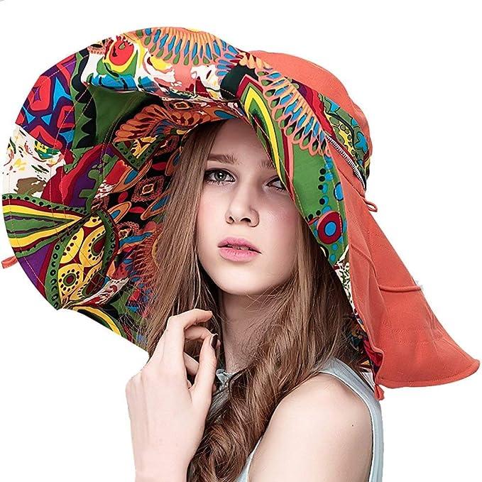 Sombrero De Playa De Mujer para Damas Verano Sombrero Modernas Casual para  El Sol Sombrero Anti Sombrero De ala Ancha Plegable Sombrero Holgado  Sombrero ... 5d8978f5022