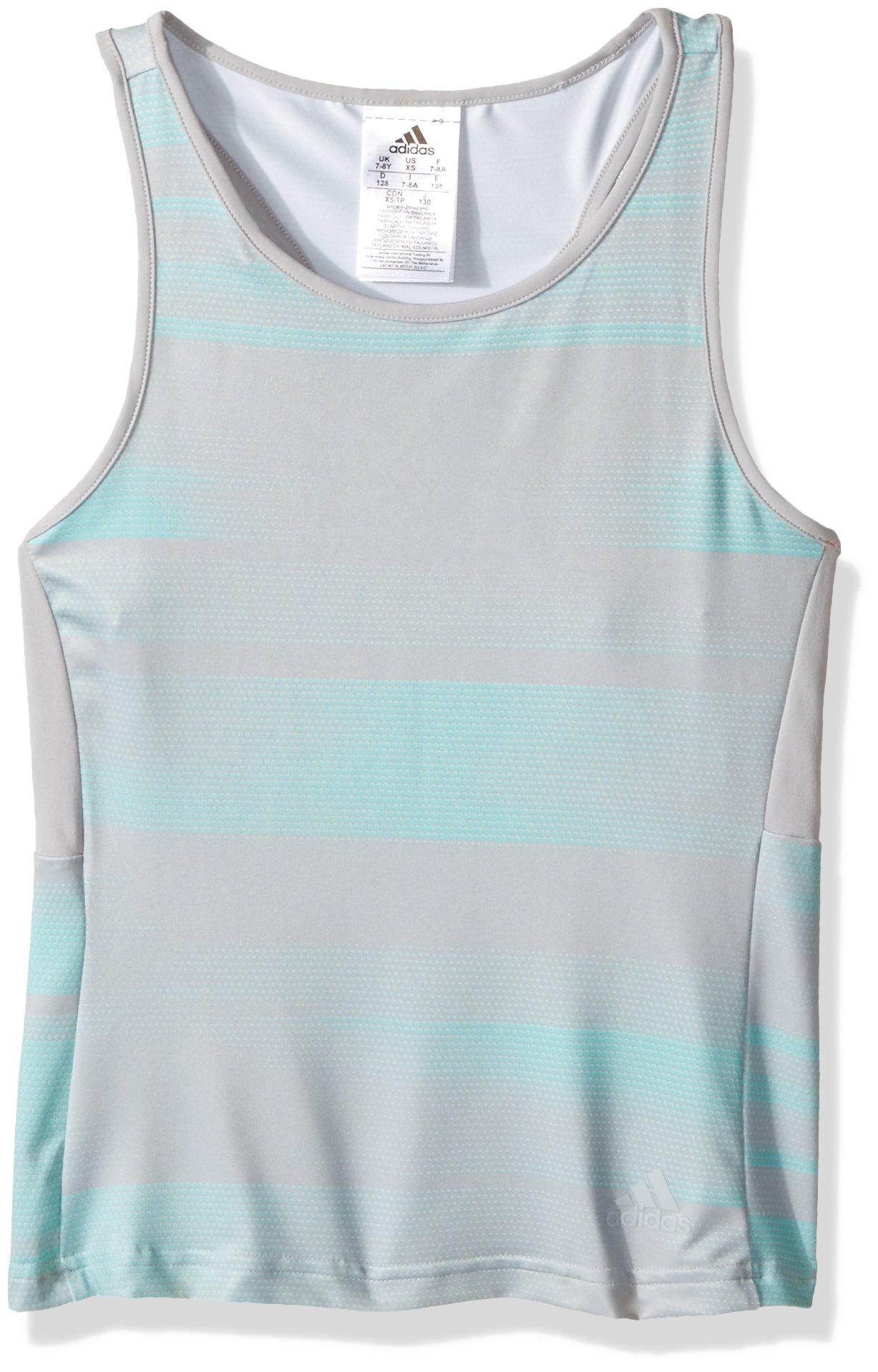 adidas Girls Tennis Advantage Tank Top, Grey Two, X-Small