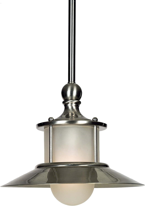 Quoizel NA1510BN New England Mini Pendant Ceiling Lighting, 1-Light, 100 Watt, Brushed Nickel (8