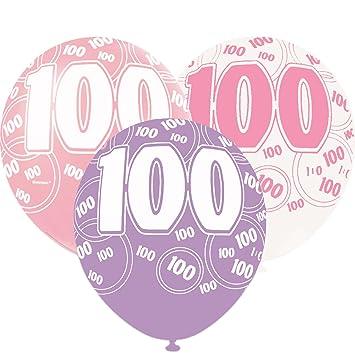 Amazon 6 Pink Sparkle Happy 100th Birthday 12 Pearlized
