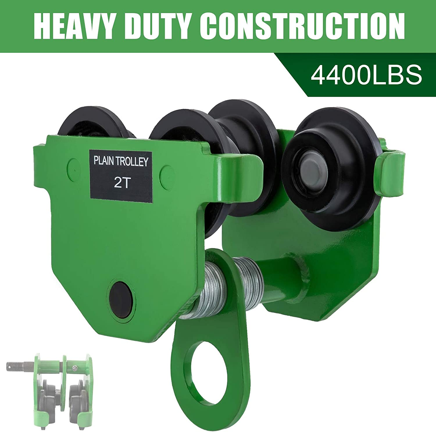 Hoists, Winches & Rigging 2T Push Beam Trolley Manual Roller ...