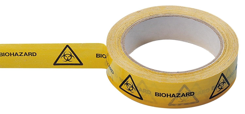 Neolab 2 7010 Biohazard Tape 25 mm x 66 m Roll Yellow 2-7010