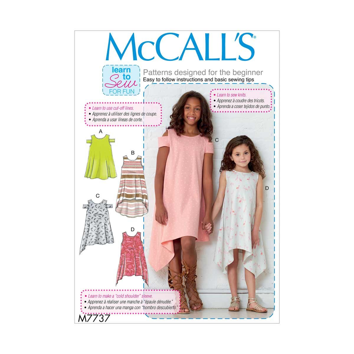 McCall\'s Learn to Sew Childrens Dresses   Size 3-6 Sewing Pattern ...