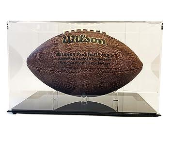 Amazon Com Ultra Max Clarity Deluxe Football Display Case Uv