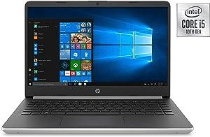 "Newest HP 14"" HD Premium Business Laptop PC | 10th Gen Intel Quad-Core i5-1035G1 up to 3.6GHz | 8GB RAM | 256GB SSD | WiFi | HDMI | Card Reader | Bluetooth | Windows 10 | Silver"