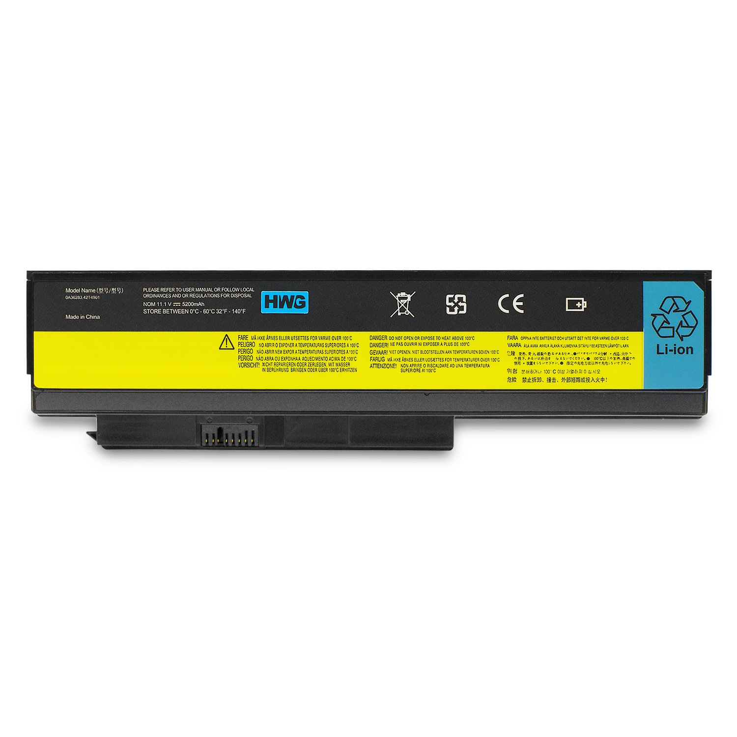 HWG X220 Battery 6 Cells for Lenovo ThinkPad X220 X220i X220s 0A36281 0A36282 0A36283 42T4863 42Y4864 42Y4868 42T4902 42Y4940 11.1V//5200mAh