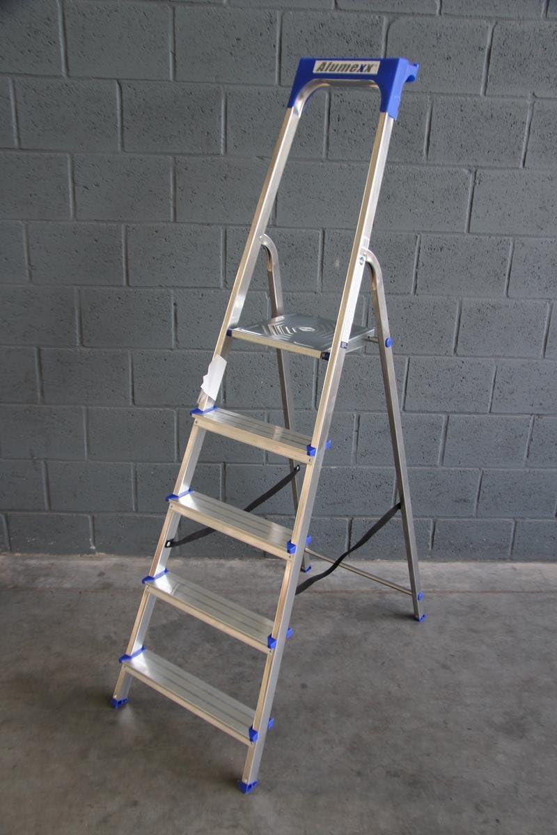 Aluminio MEXX Eco Line de pie escalera 5 peldaños: Amazon.es: Bricolaje y herramientas
