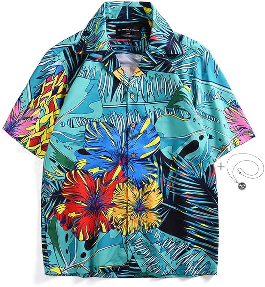 Morbuy Camisa Hawaiana Hombre, 3D de Manga Corta Relajada e Informal Estilo Hawaiano Diseño de Palmeras, para la Playa, Fiestas, Verano y Vacaciones (M, Azul): Amazon.es: Ropa y accesorios