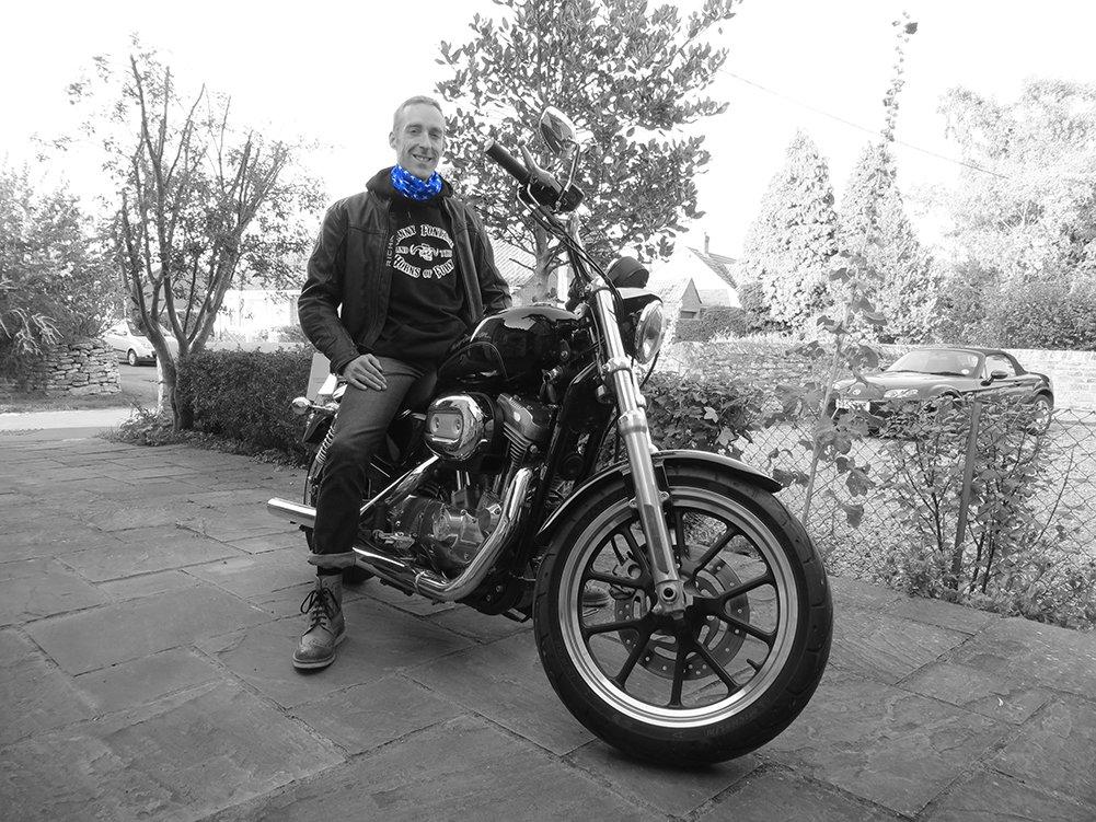 Ruffnek,sciarpa bandana blu a stelle,copricapo multifunzione e scaldacollo da motocicletta,taglia unica