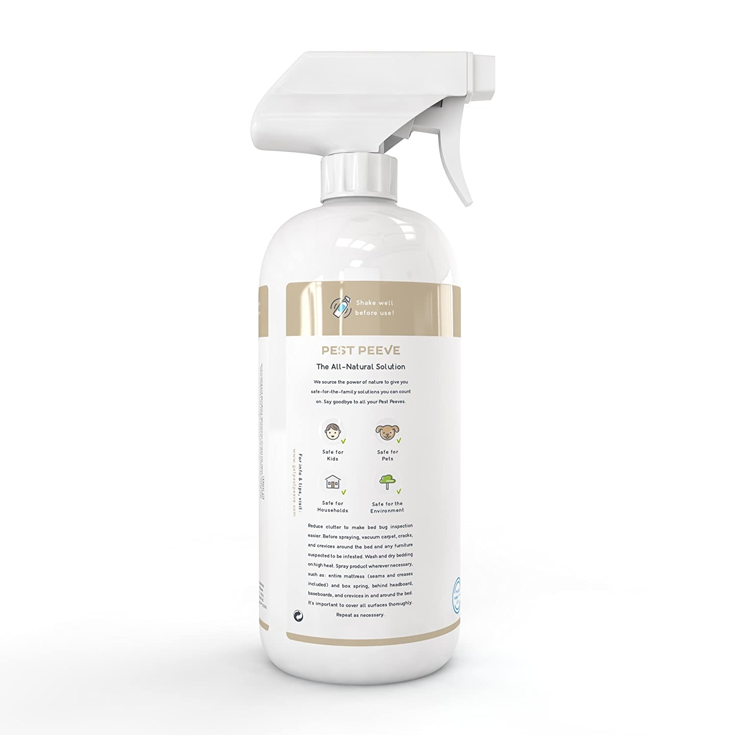 Pest Peeve Bye Bed Bugs Powerful Natural Bedbug Bite Fighters Mosquito Repellent Lotion Rolling Ball Killer Spray Home Defense Treatment Eco Friendly And Safe For The Family 32 Oz