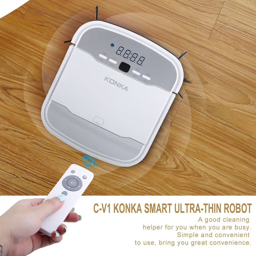 Amazon.com: KONKA KC-V1 Automatic Robotic Vacuum Cleaner Sweeper, Robot  Vacuum Cleaner with Powerful Suction, Self-Charging and Remote Controller  for Pet ...