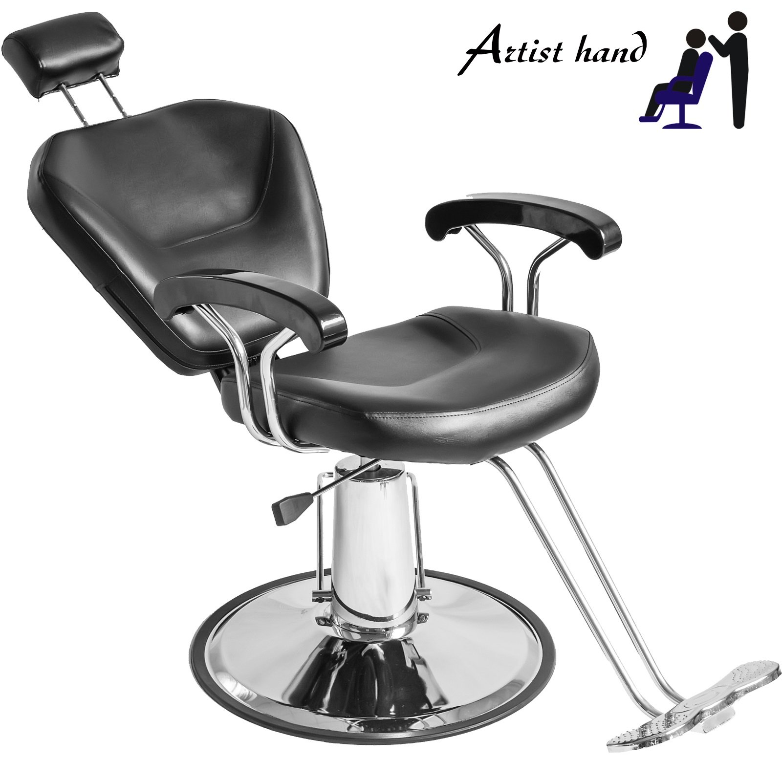 Artist Hand 20'' Wide All Purpose Hydraulic Barber Chair Salon Spa Styling Equipment
