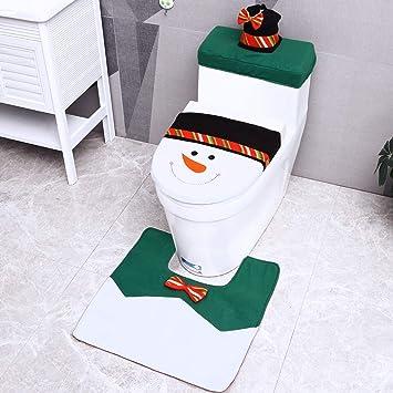 Matte Weihnachten Nikolaus WC Deko Set Weihnachtsdekoration 2-tlg WC Sitzbezug