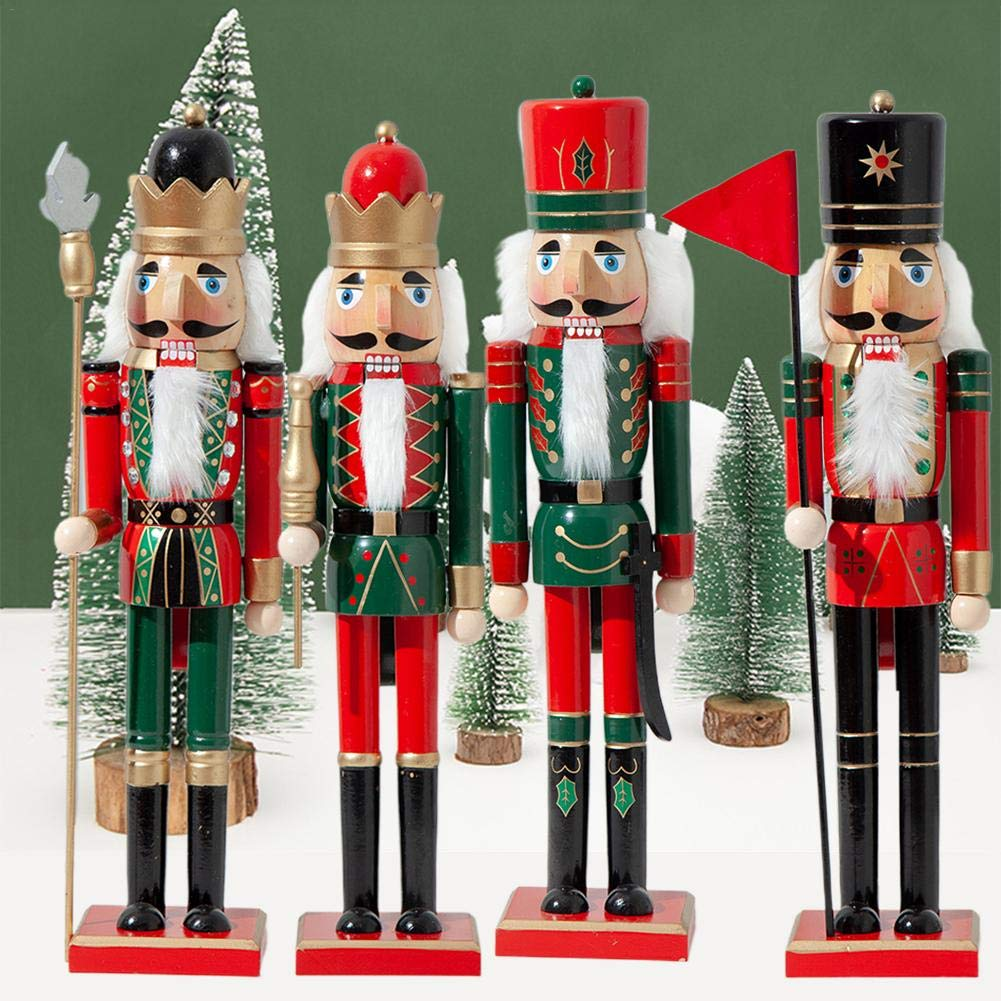 PITCHBLA Traditional Nutcracker Soldiers Gift Set Great Childrens Room Home Decoration Soldier Ornament Christmas New Wooden Puppets Toys Holiday Ornament 50CM