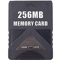 Unidade de cartão de memória OSTENT de alta velocidade 256 MB compatível com videogame Sony Playstation 2 PS2 Slim…